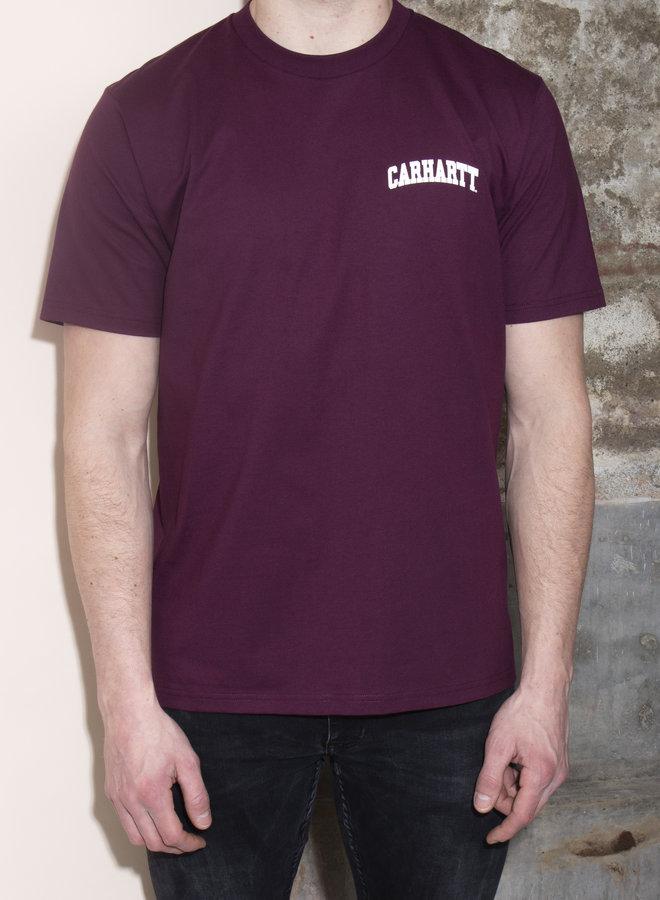 Carhartt Men - S/S University Script - Shiraz/White