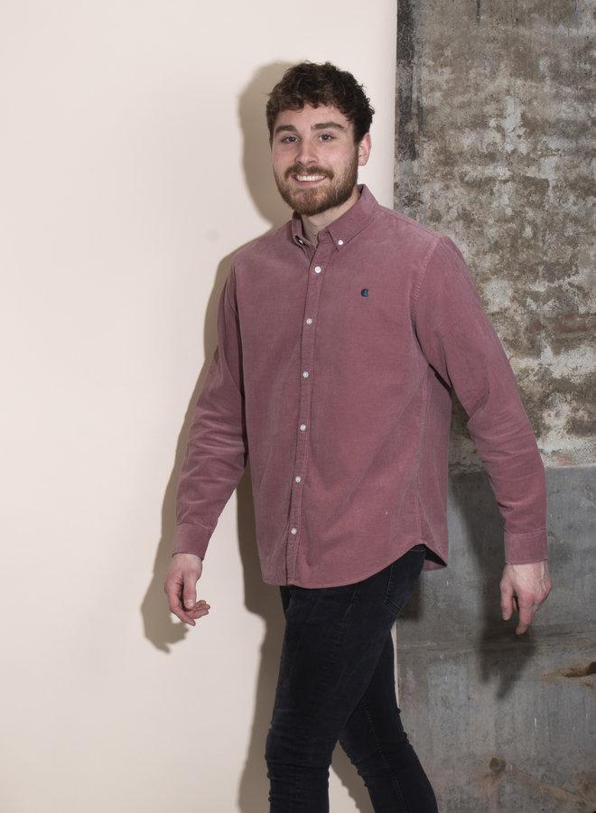 Carhartt Men - L/S Madison Fine Cord Shirt - Malaga/Corse
