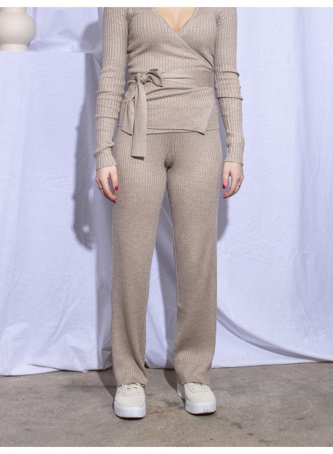 Rut&Circle - Vanessa Knit Pants - Mushroom