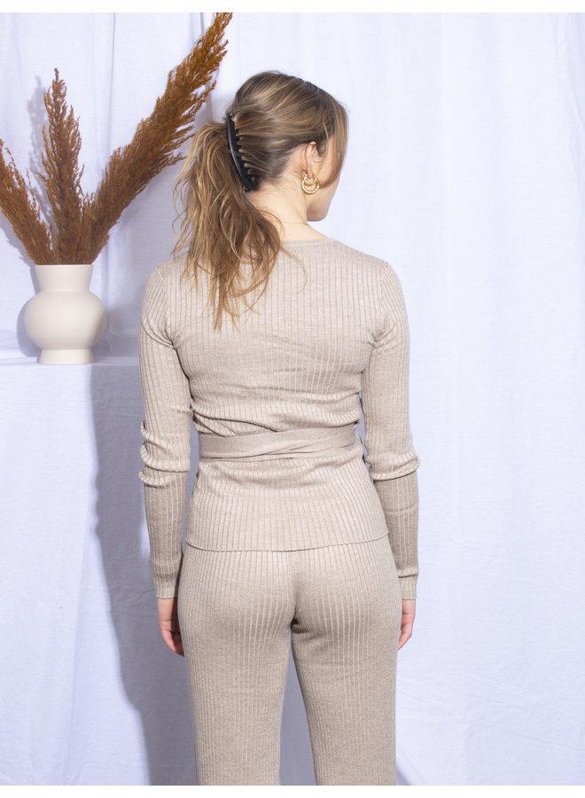 Rut&Circle - Vanessa Knit Top - Mushroom