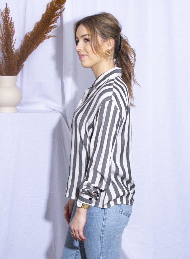 Rut&Circle - Zindy Oversized Shirt - Black/White Stripe