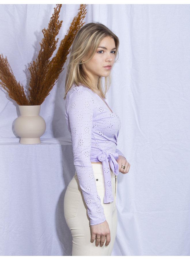 Emily Wrap Top - Lila