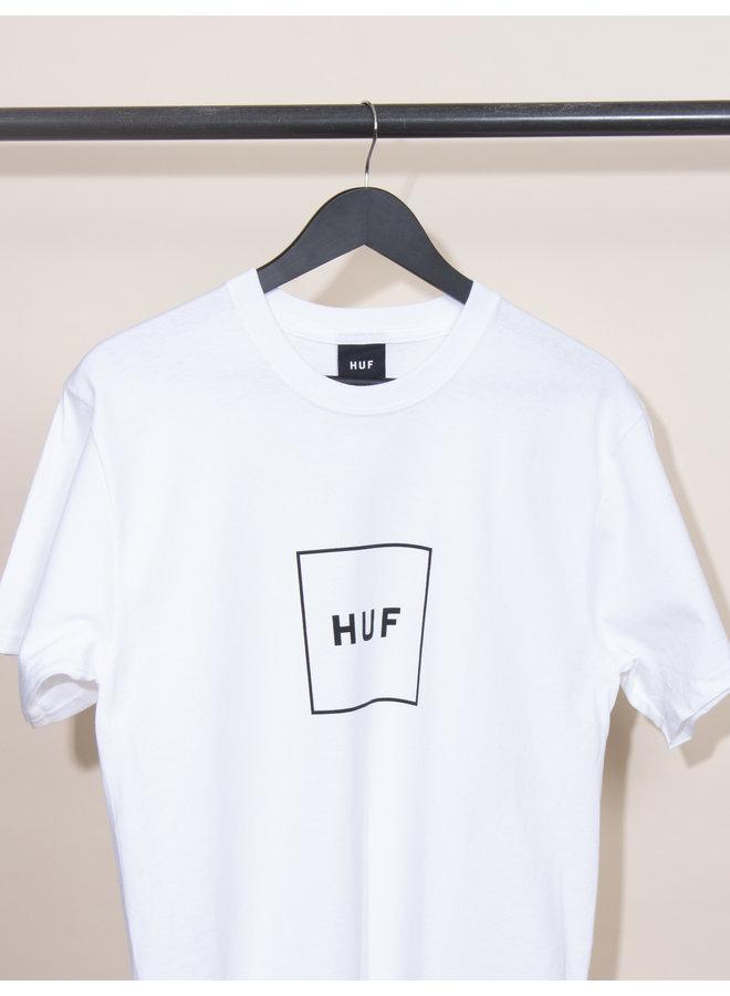 HUF - Essentials Box Logo S/S - White
