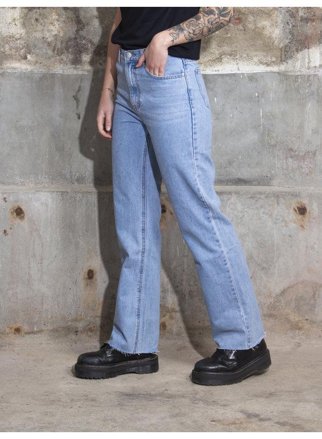 Wide Leg Jeans - Light Blue