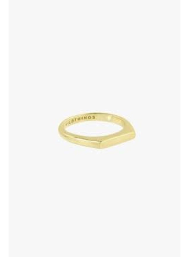 WILDTHINGS - Tiny Bar Ring - Gold Plated