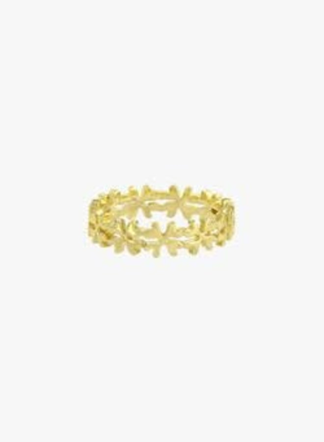 WILDTHINGS - Clover Club Index Ring - Gold Plated
