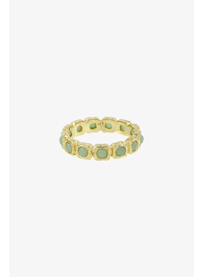WILDTHINGS - Eternity Aqua Ring - Gold Plated