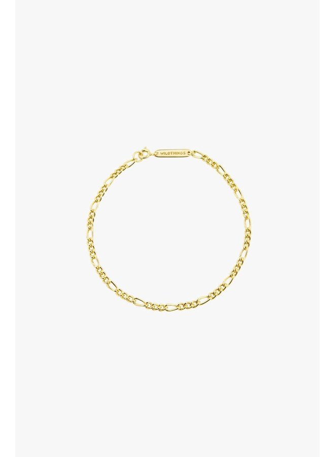 WILDTHINGS - Figaro Bracelet - Gold Plated