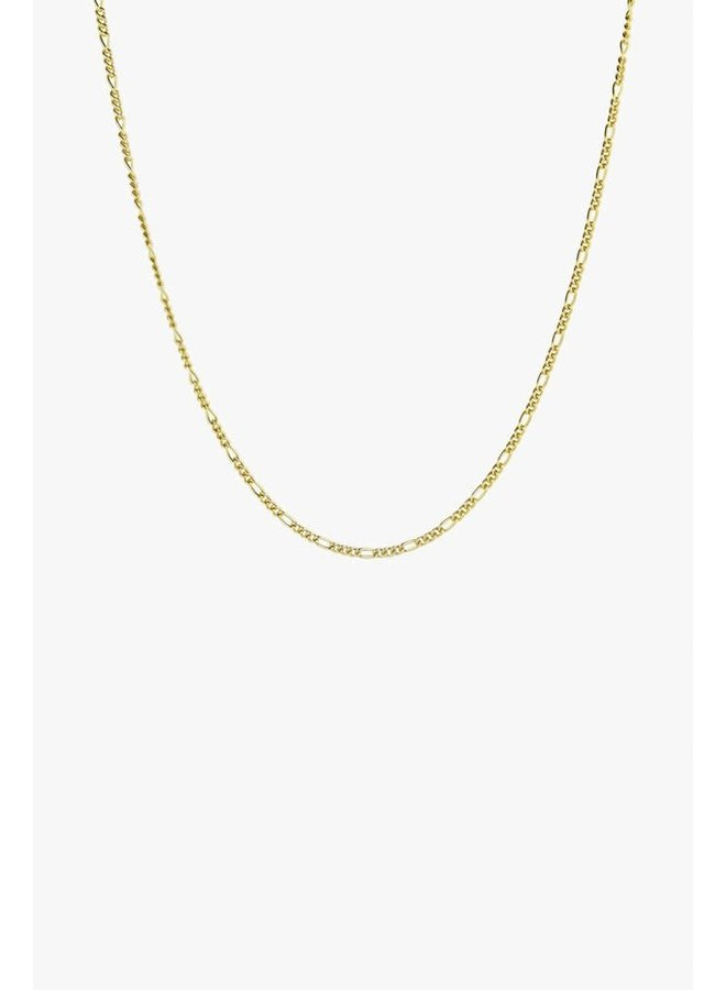 Long Figaro Chain Necklace - Gold Plated