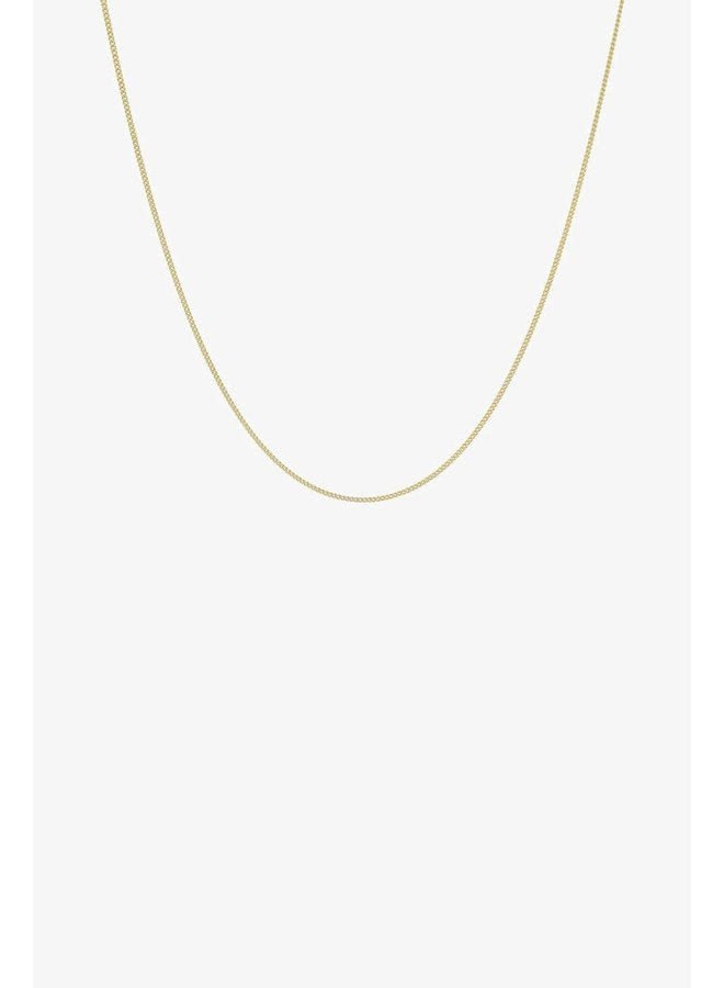 Curb Chain Necklace - Gold Plated
