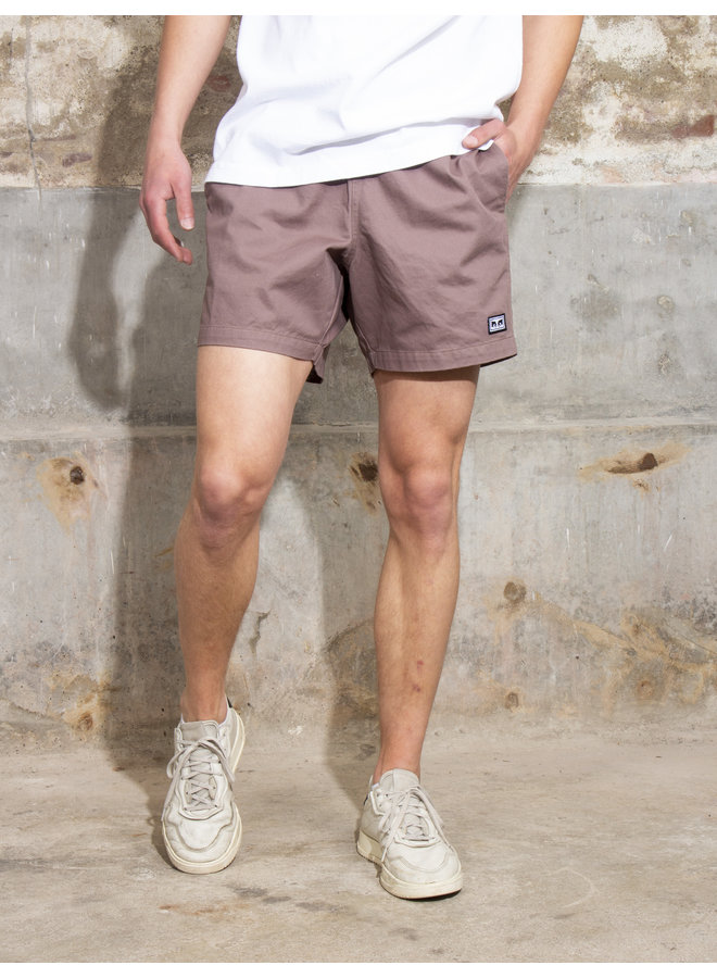 Obey Men - Easy Relaxed Twill Short - Gray Grape