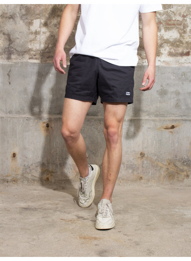 Obey Men - Easy Relaxed Twill Short - Black