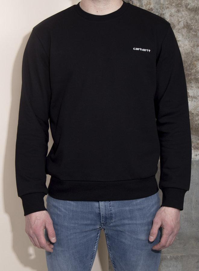 Carhartt Men - Script Embroidery Sweat - Black/White