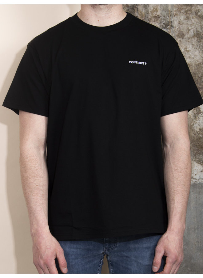 Carhartt Men - S/S Script Embroidery T-shirt - Black/White