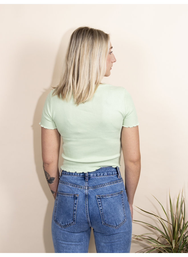 24COLOURS - Ribbed Top - Green (11516a)