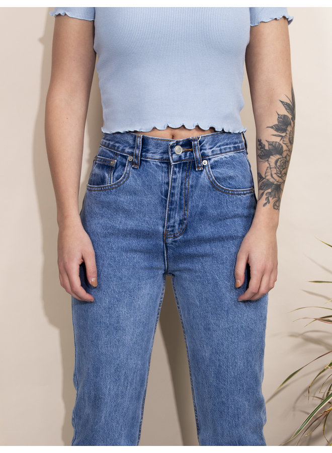 24COLOURS - Split Jeans - Blue (80270)