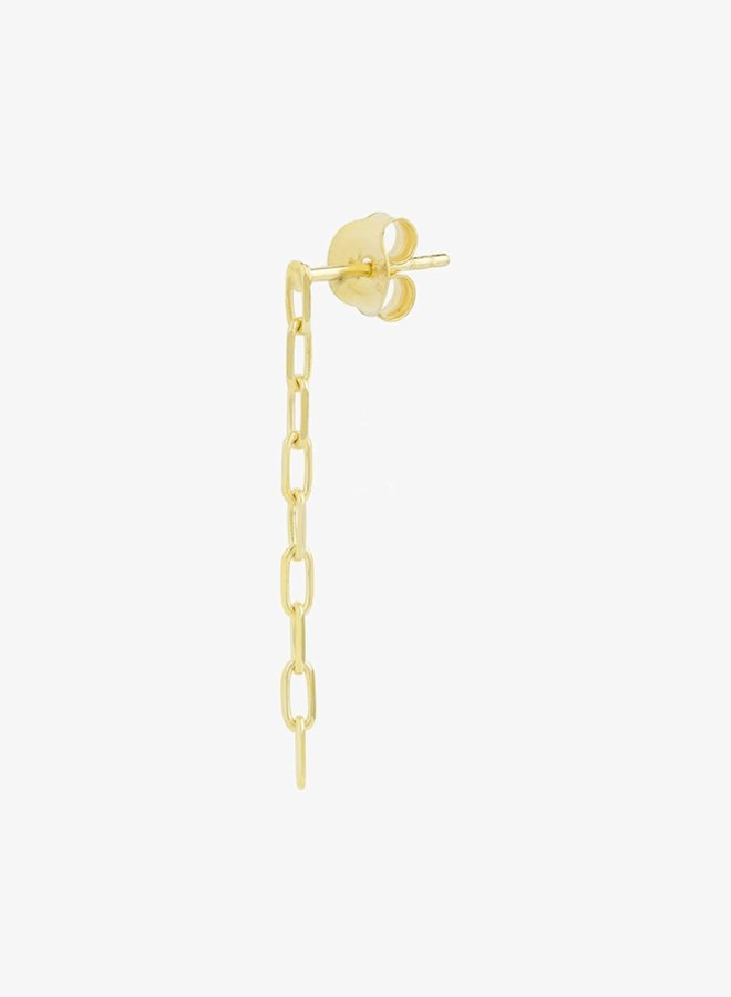 WILDTHINGS - Chain earring gold (Per piece)