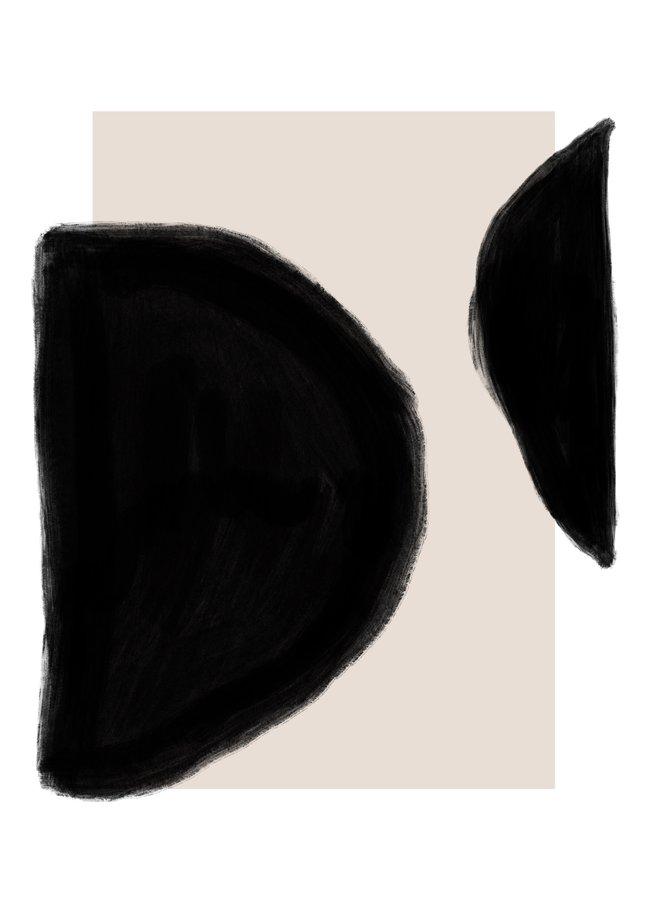 A3 POSTER - BLACK, PINK, WHITE