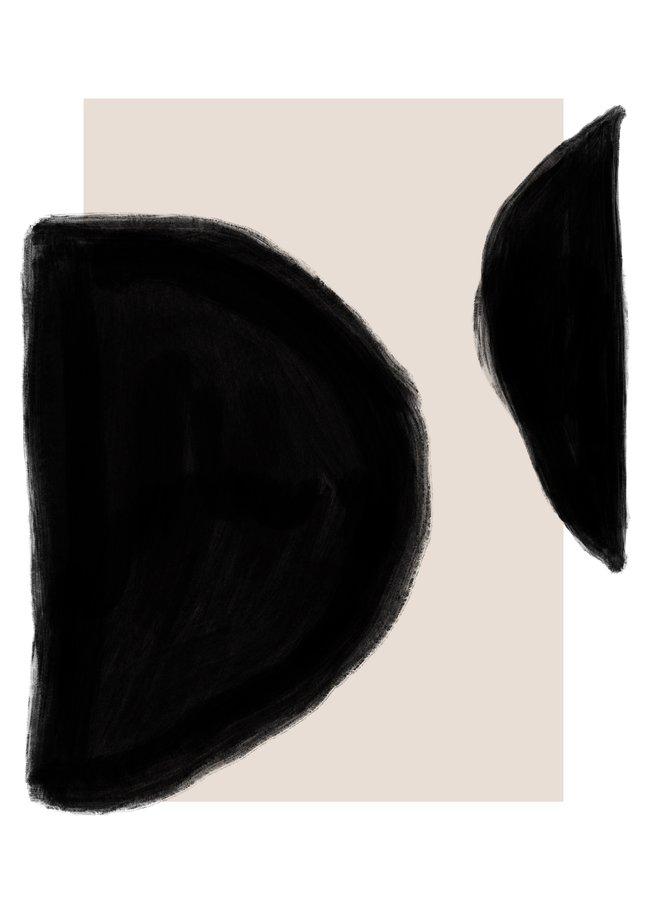 A2 POSTER - BLACK, PINK, WHITE