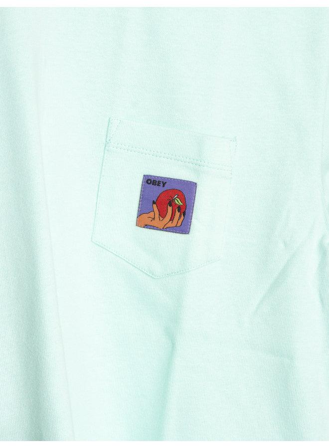 Obey Womens - Apple Pocket Tee - Light Blue