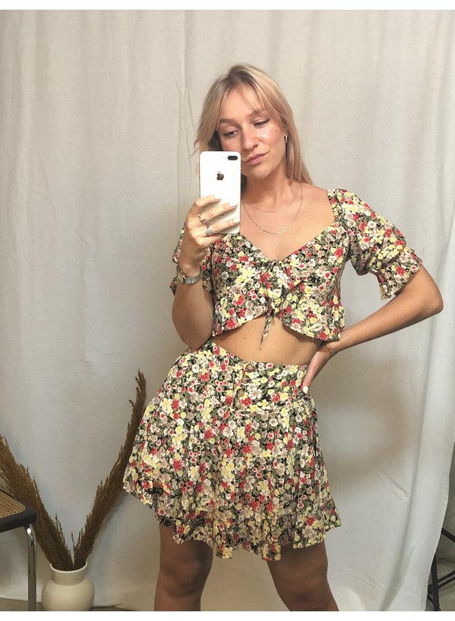Multi Flowers Skirt
