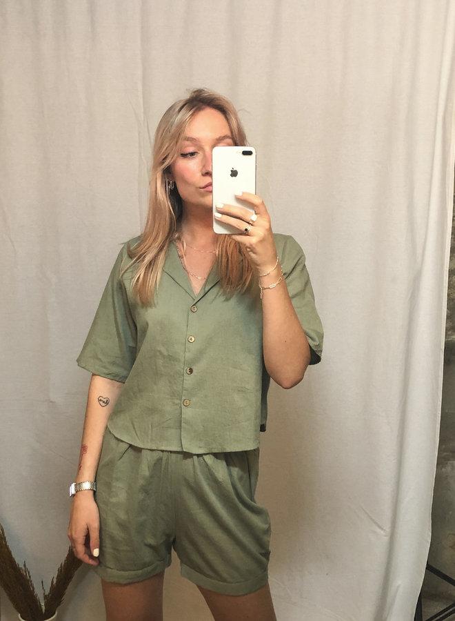 Rut&Circle - Alina Camp Shirt - Army Green