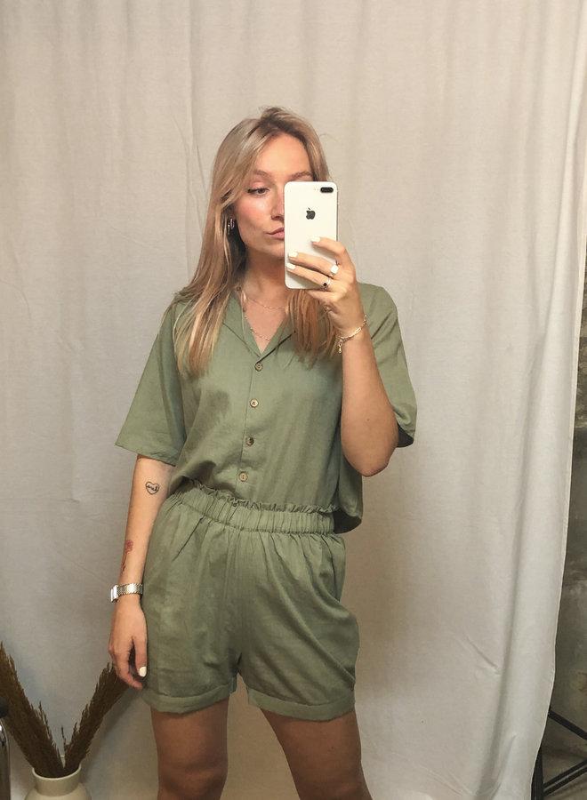 Rut&Circle - Alina Shorts - Army Green