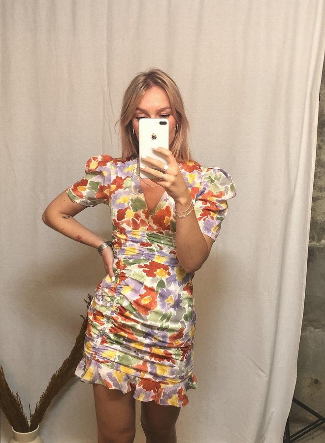 Colourful floral dress - Multi