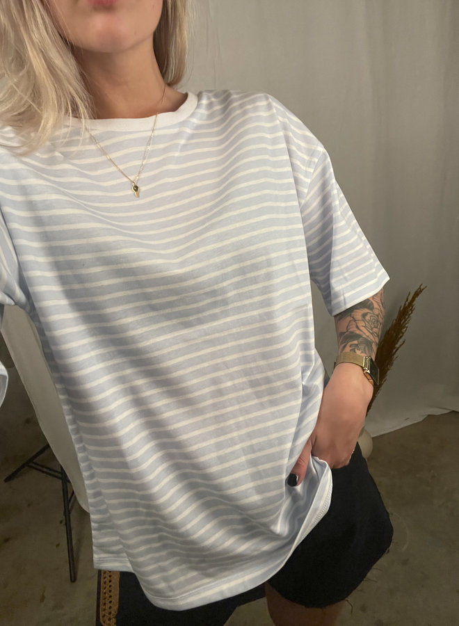 24COLOURS - Blue Stripe T-Shirt (11570b)