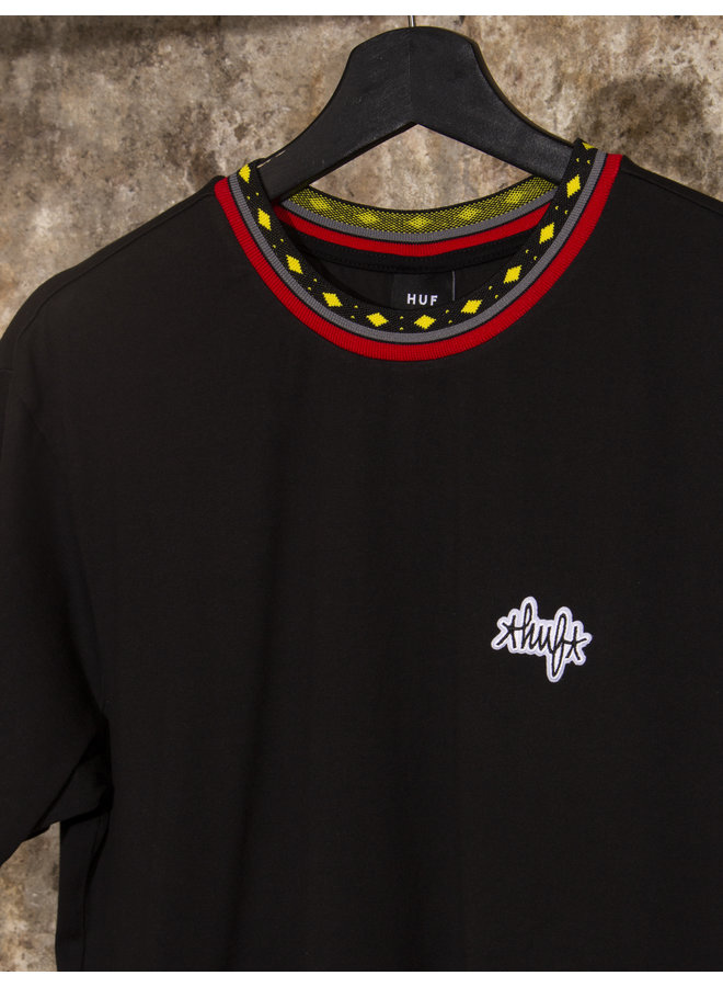 HUF - TOBIAS S/S KNIT TOP - BLACK