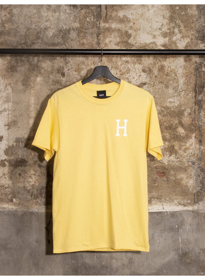 HUF - ESSENTIALS CLASSIC H S/S TEE - WASHED YELLOW