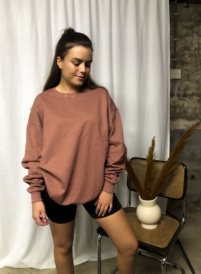 24COLOURS - Oversized Sweater Brown (50677c)