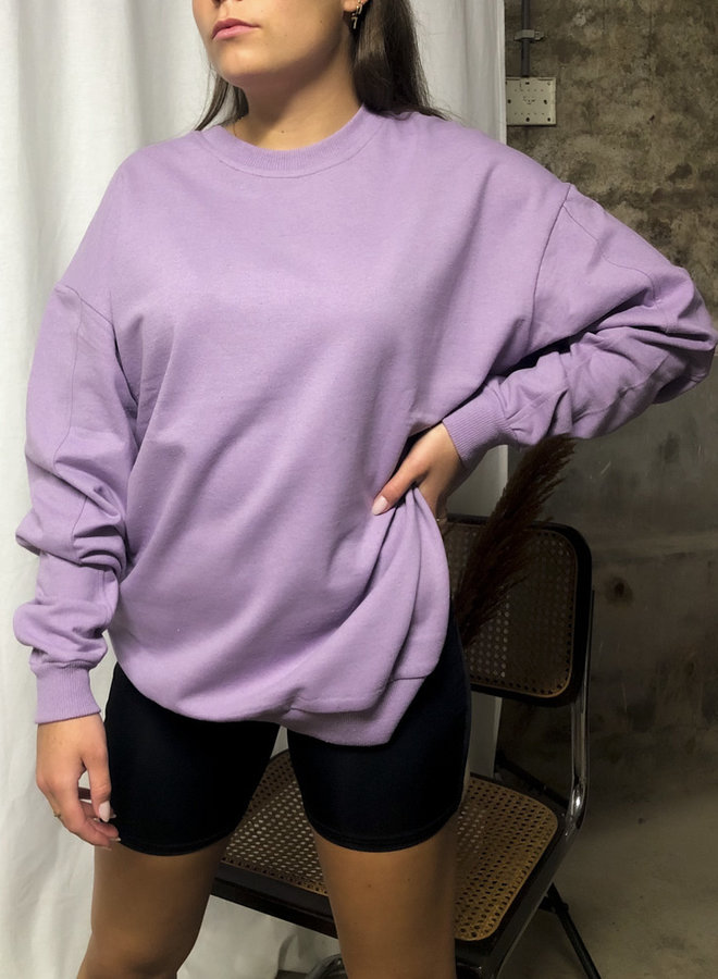 24COLOURS - Oversized Sweater Lila (50677a)