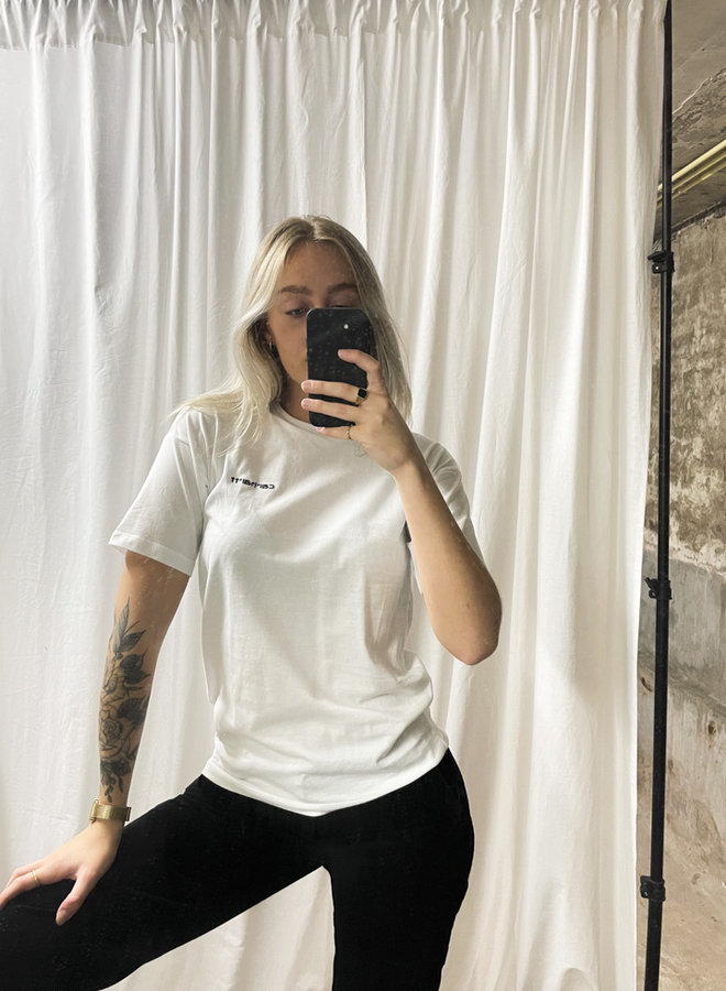 Carhartt Women - W' S/S Script Embroidery - WHITE/Black