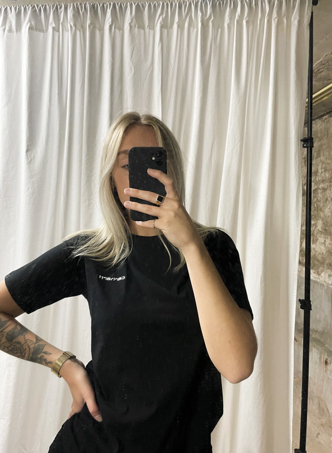 Carhartt Women - W' S/S Script Embroidery - BLACK/White