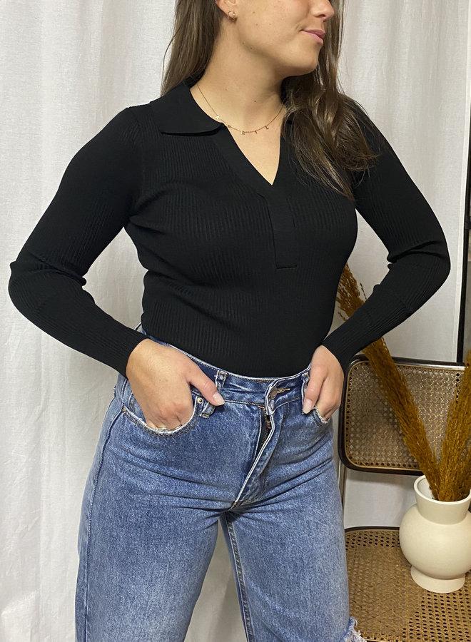 Clara Polo Body - Black