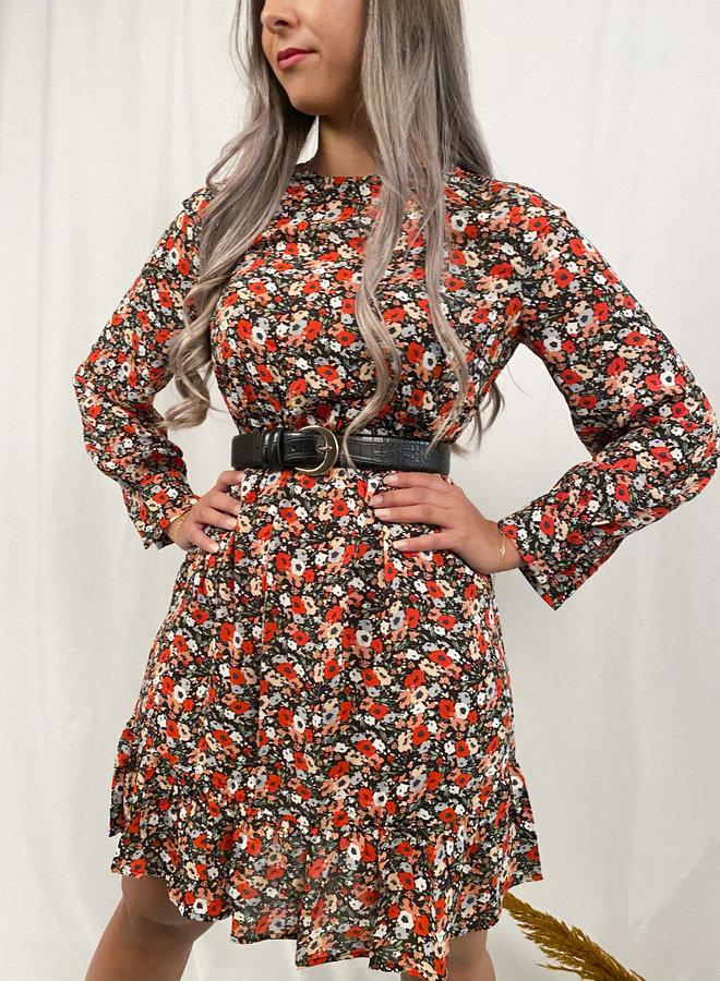 Rut&Circle - Savannah Dress - Red Flower