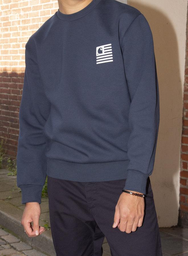 Carhartt Men - Fade State Sweat - Admiral/White