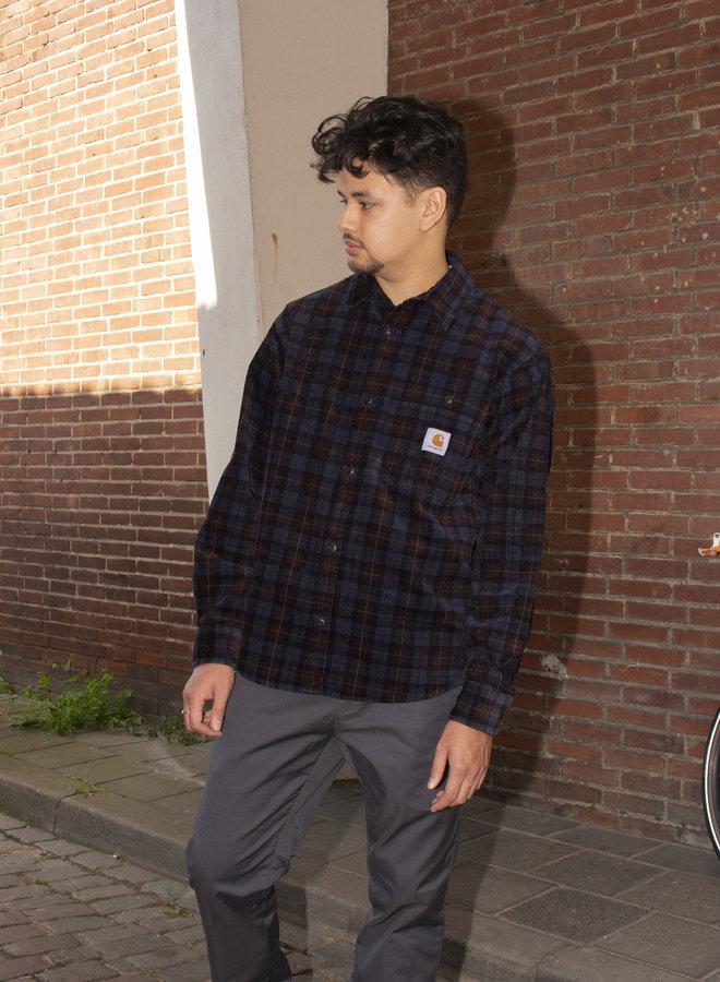 Carhartt Men - L/S Flint Shirt - Breck Check Print, Tobacco Rinsed