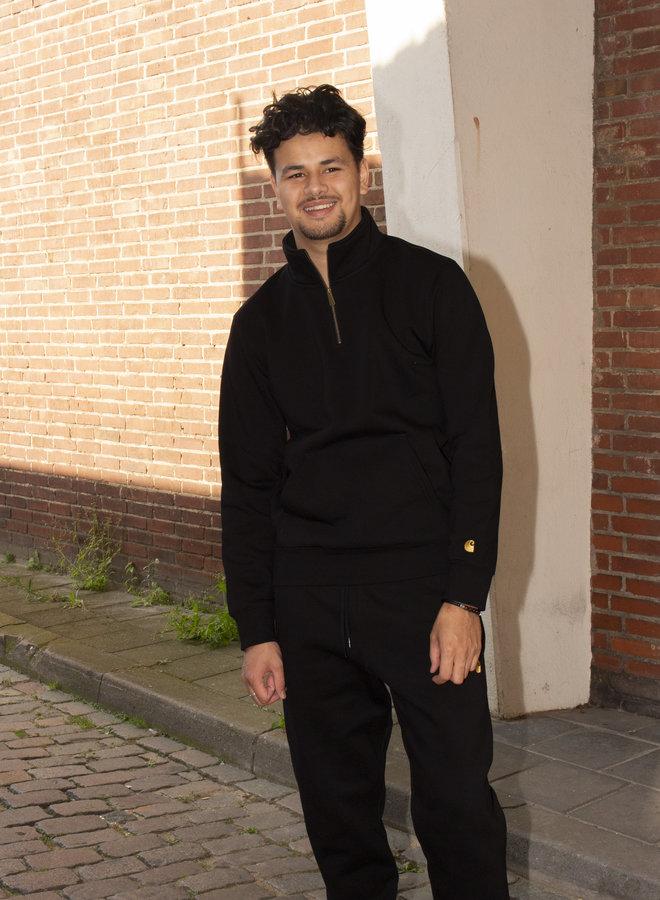 Carhartt Men - Chase Neck Zip Sweatshirt - Black/Gold