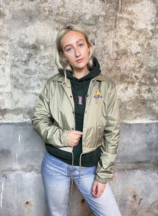 HUF WOMEN - New Dawn TT Crop Coaches Jacke - Khaki