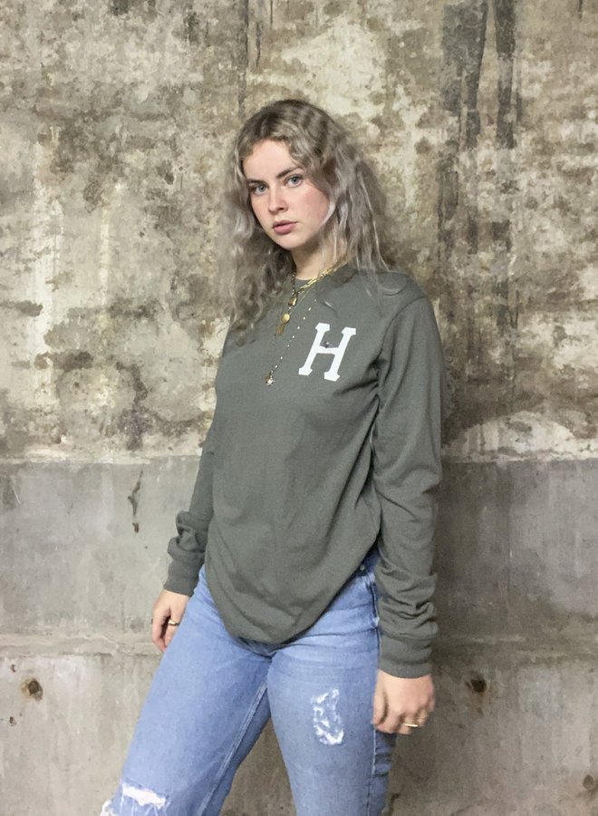 HUF WOMEN - Prey Classic H L/S Relax Tee - Charcoal