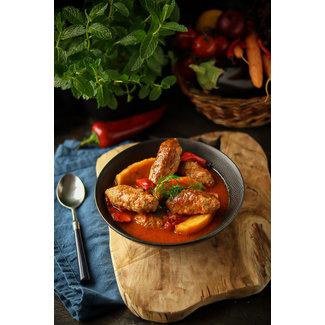 Izmir Köfte (kofte met aardappel in tomatensaus)