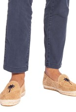 MANEBI Espadrilles - Palm Springs - Beige with Blue Palm
