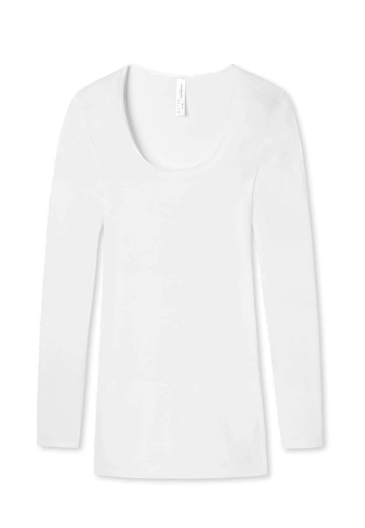 T-shirt lange mouw Luxury 200765 - wit-3