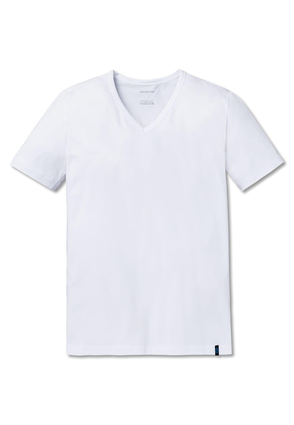 T-shirt v-hals 95/5 205429 - wit-3