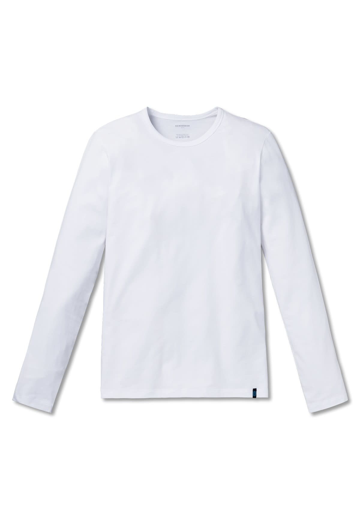 T-shirt lange mouw 95/5 205419 - wit-3