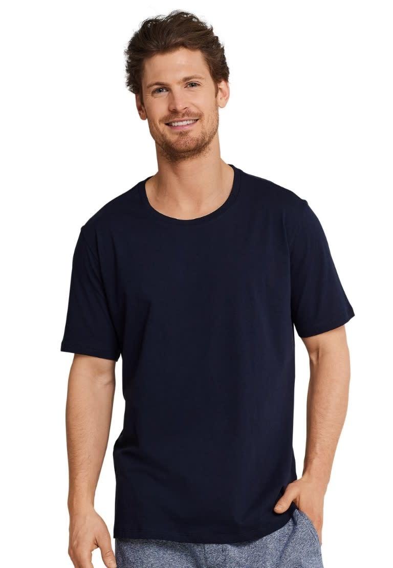 Shirt korte mouw Mix & Match 163832 - donkerblauw-1