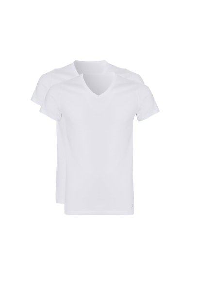T-shirt v-hals 2-Pack 30870 - wit