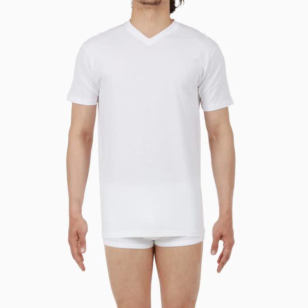 T-shirt v-hals Hilary 401556 - wit-1